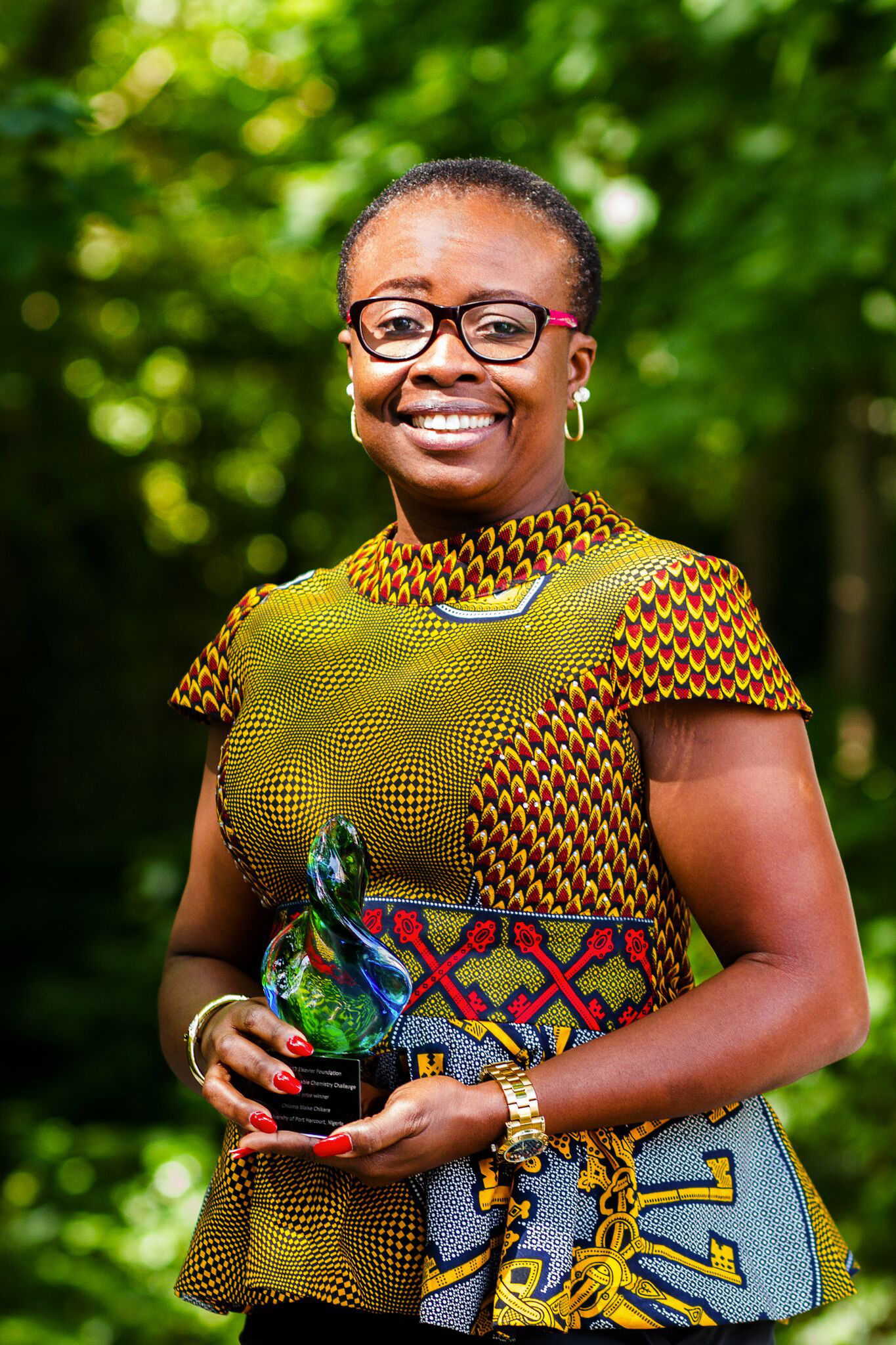 Chioma Blaise Chikere, 2017 second prize winner of the Green Sustainable Chemistry Challenge