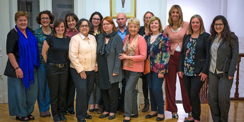 Participants of the GenderInSITE-Elsevier Foundation workshop in Buenos Aires (left to right): Louise Morley, María Bustelo, Eve Langelier, Judith Zubieta, Alice Abreu, Mary Murphy, Liisa Husu, Maxime Forest, Gloria Bonder, Rachel Palmen, Beatriz Macedo,