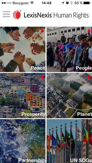 LexisNexis app - home page