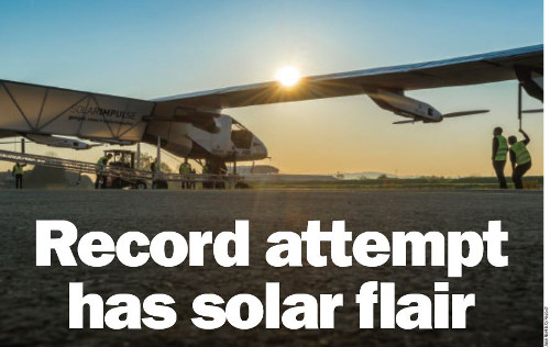 Record attempt has solar flair