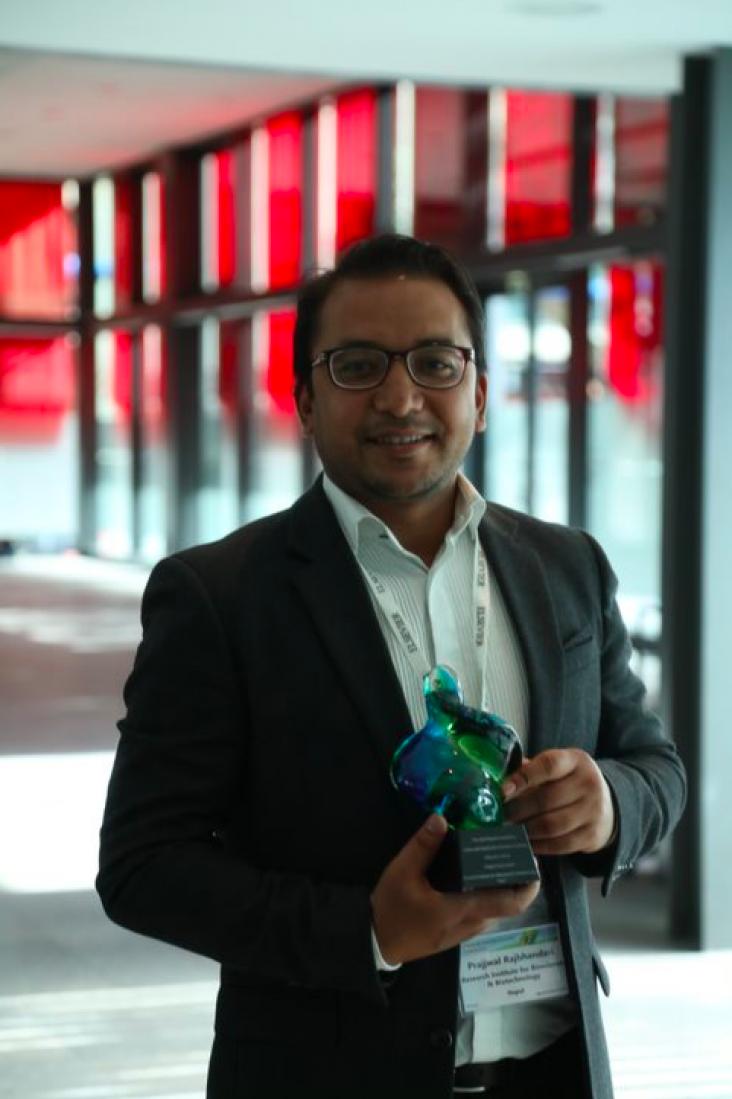 2018 First prize winner Dr. Prajwal Rajbhandari