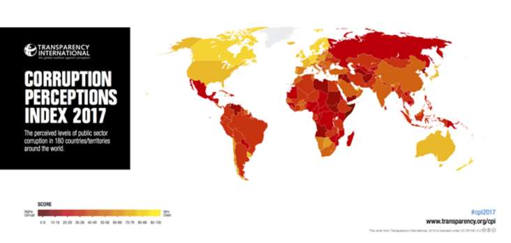 Corruption perceptions index 2017