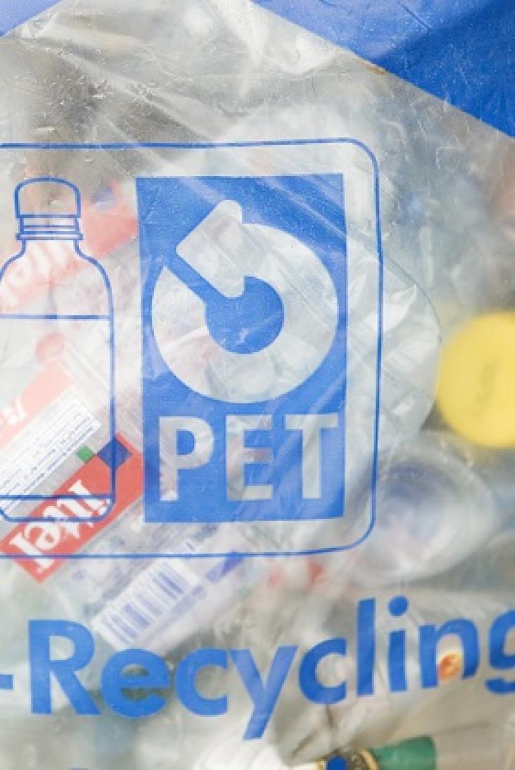 Plastics recycling - PET Recycling bag