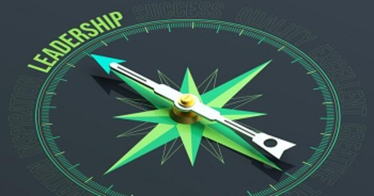 Image of compass pointing to Leadership