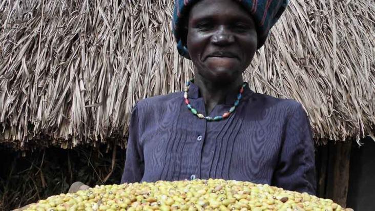 A farmer in Uganda