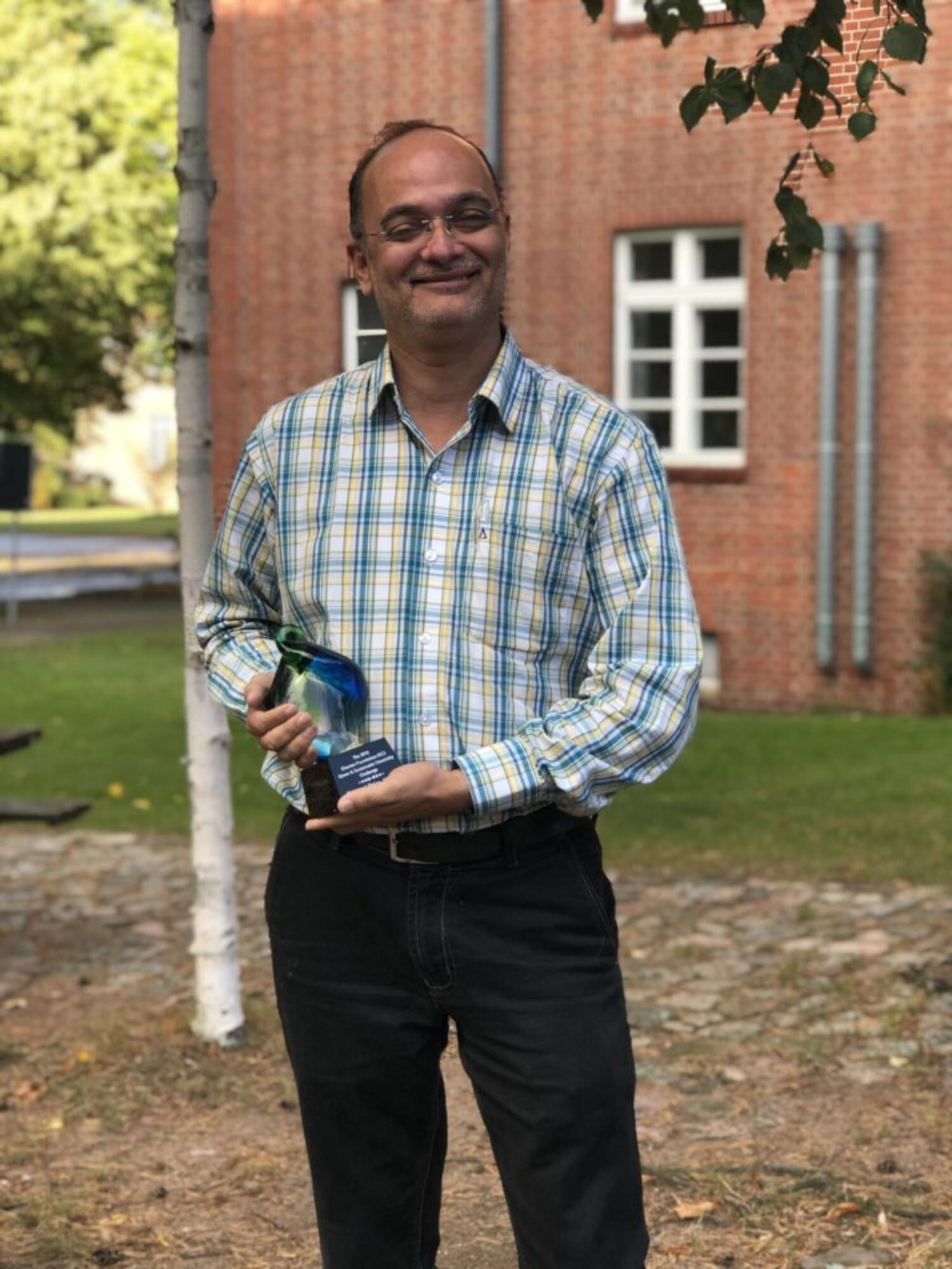 2019 Elsevier Foundation Green and Sustainable Chemistry Challenge second prize winner, Dr. Ankur Patwardhan