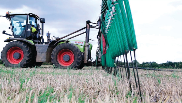 The plant produces approximately 28000 cubic metres of digestate every year