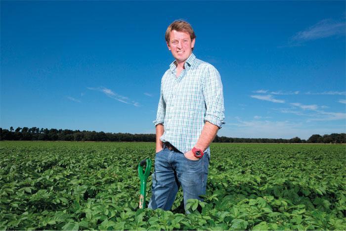 Tim Pratt has seen an increase in soil fertility on his vegetable-producing farm