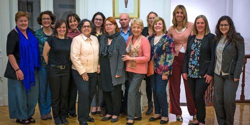 Participants of the GenderInSITE-Elsevier Foundation workshop in Buenos Aires (left to right): Louise Morley, María Bustelo, Eve Langelier, Judith Zubieta, Alice Abreu, Mary Murphy, Liisa Husu, Maxime Forest, Gloria Bonder, Rachel Palmen, Beatriz Macedo,